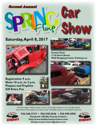 Spring Fling Car Show.  April 8, 2017